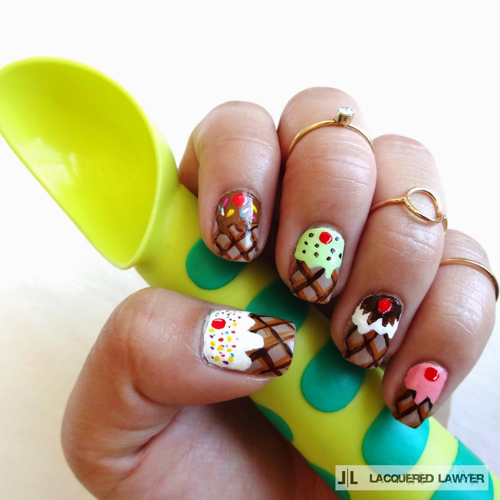 Cream Nail Art: Nail Art Blog: Ice Cream Nails