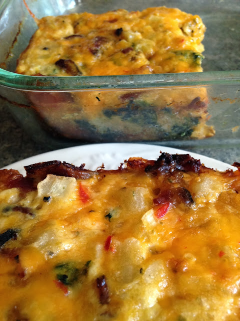 Turnips 2 Tangerines: Bacon, Spinach, Cheese and Potato Bake