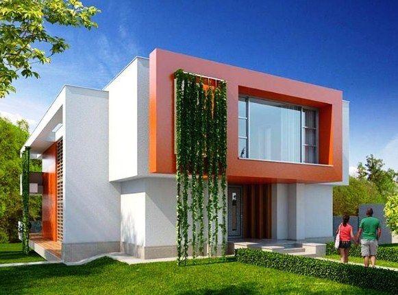 Contoh Tampak Depan Rumah Minimalis 2 Lantai Modern