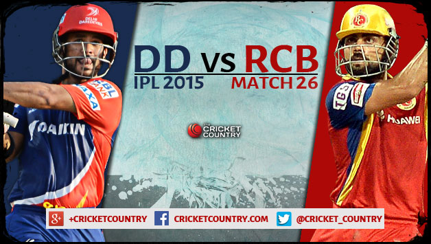 IPL 2016 Match Royal Challengers Bangalore vs Delhi Daredevils Match Prediction And Ball By Ball Update