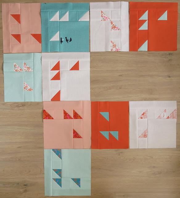 Sugar Rush pattern by Laura Pritchard - Work in progress - Ten blocks