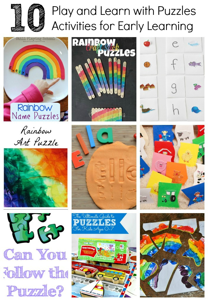 10 Fun and Easy ways to use puzzles to teach math, literacy, science, and fine motor!
