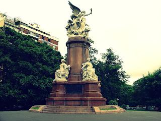 Detalhe do Monumento da Plaza Francia, Recoleta