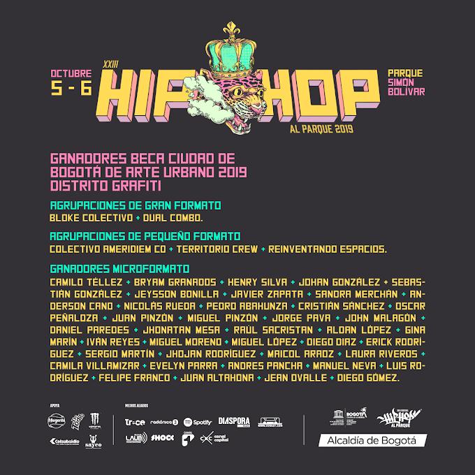 Lista de Graffiteros invitados a «Hip Hop Al Parque 2019»
