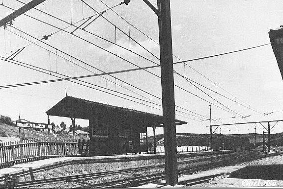 A estação ainda com o nome Taipas em data desconhecida. Foto: acervo Alberto del Bianco / Site: Estações Ferroviárias