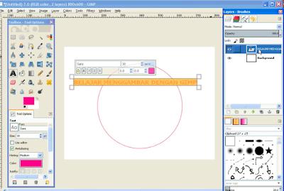 Membuat Teks / Tulisan Melengkung di GIMP4
