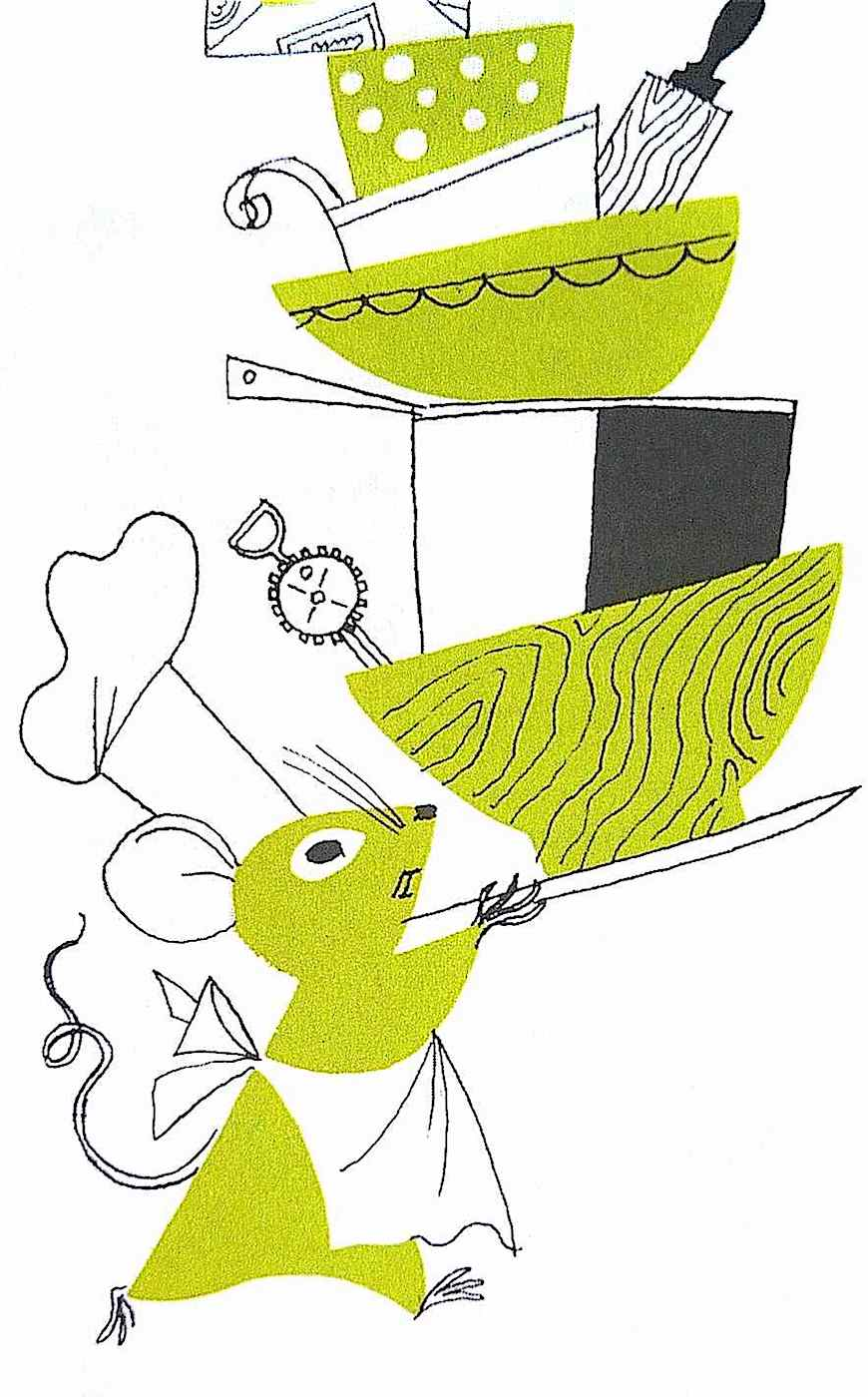 an Alice & Martin Provinson children's illustration of a mouse chef