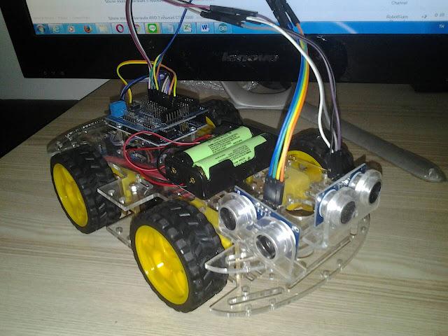 โปรเจค หุ่นยนต์เดินตามผนัง Wall Arduino