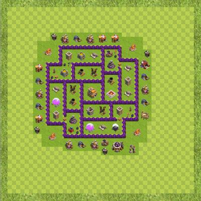 War Base Town Hall Level 7 By Duncan Idaho (War TH 7 Layout)