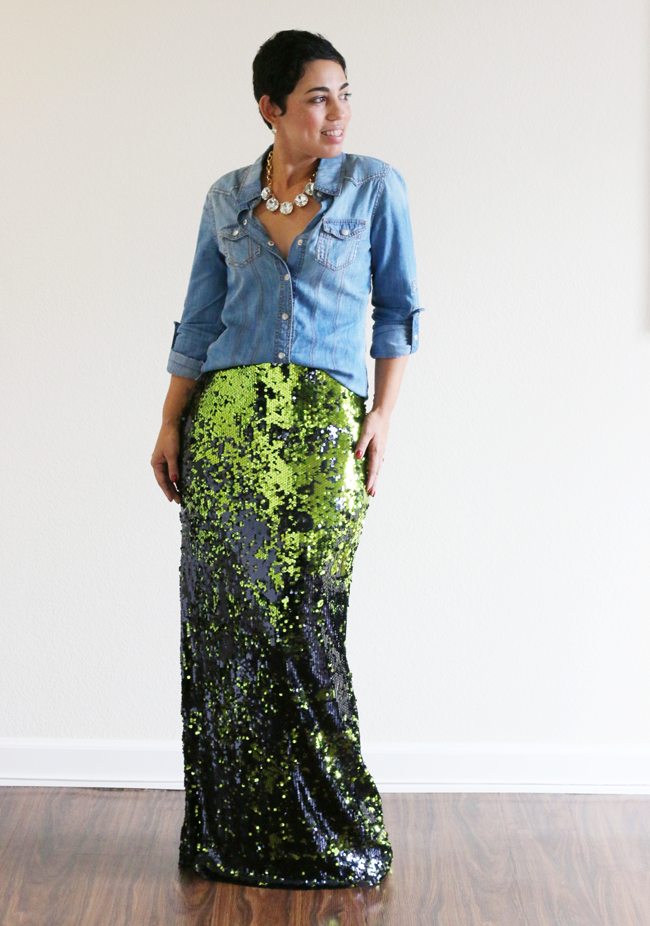 Low Price Fabric: Mimi G DIY Sequin Maxi Skirt TUTORIAL!!!