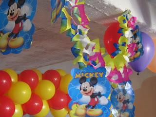MICKEY MOUSE DECORACION FIESTAS INFANTILES