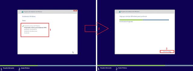 Windows 10: Preparando archivos para la instalación.