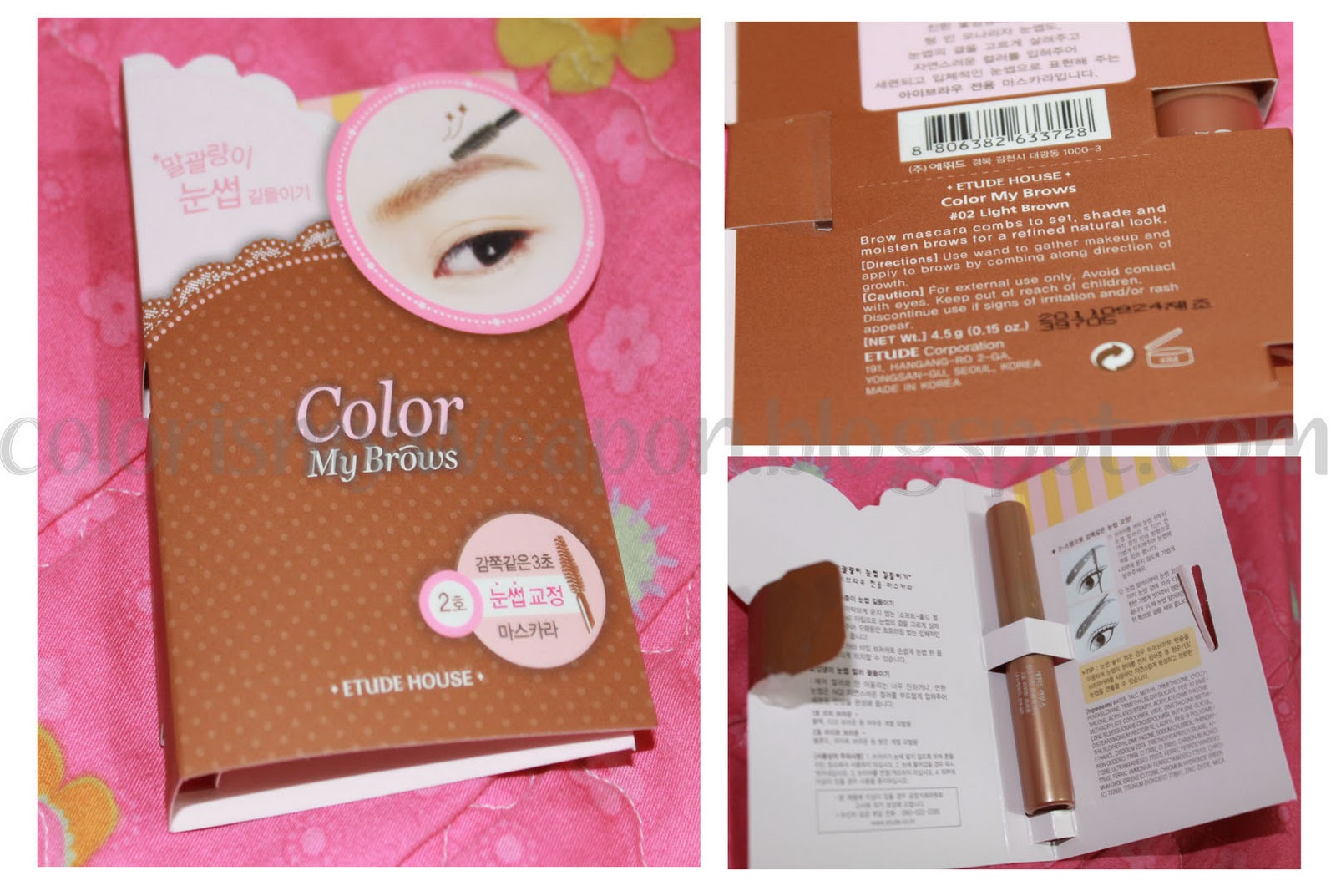 Colorismyweapon By Noe Mae Review Etude House Color My Brows No 2 Brow Light Brown