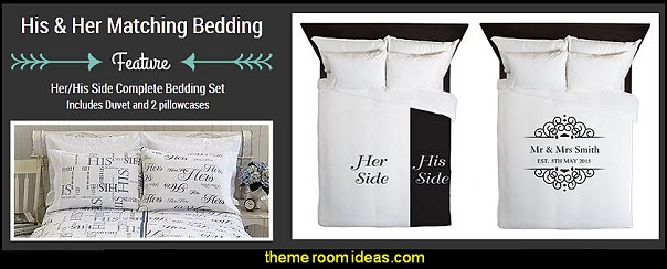His & Hers duvet covers anniversary gift - wedding gift - engagement gift - His & Hers Sheet sets