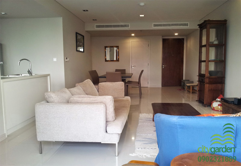phòng khách city garden căn hộ 117m2