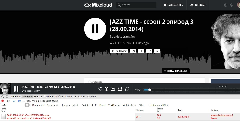 Maksym Hontar: Mixcloud podcast downloader