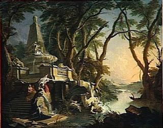 Lajoue, paysage avec rivière