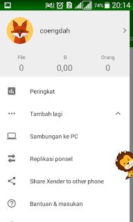 apabila belum download kamu bisa mendownloadnya https://play.google.com/store/apps/details?id=cn.xender&hl=en