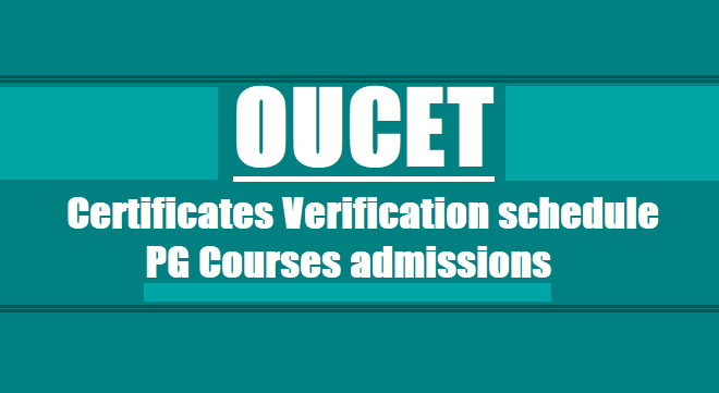 oucet 2018 3rd phase certificates verification web options dates