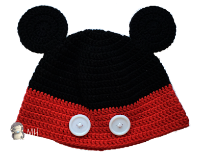 Gorros Minnie y mickey a crochet