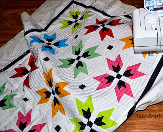 How to Quilt a Super Spiral with Walking Foot