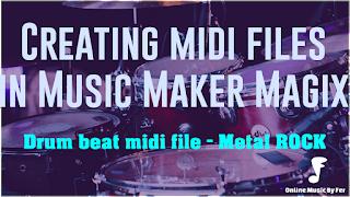 magix music maker tutorial metal midi drums