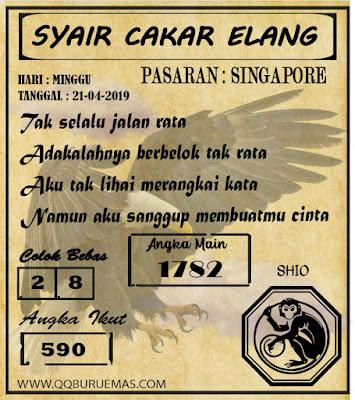 Syair SINGAPORE,21-04-2019