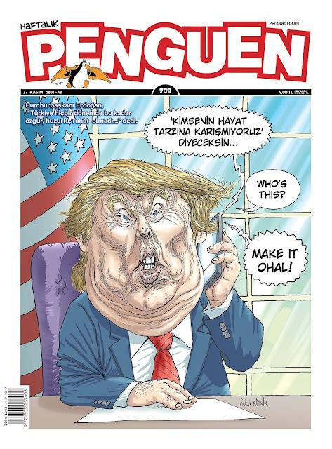 Penguen Dergisi | 17 Kasım 2016 Kapak Karikatürü