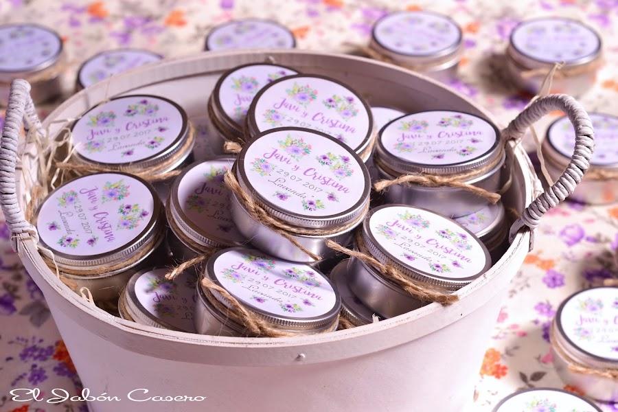 Detalles de bodas velas aromaticas personalizadas
