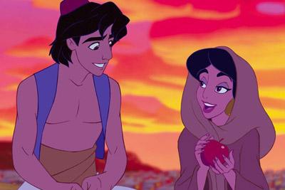 aladdin e jasmine da animação aladdin