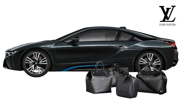 Bolsas Louis Vuitton, em parceria com a BMW