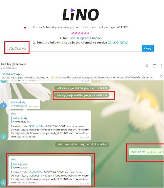 Nhận LNO token miễn phí