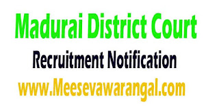 District Court Madurai (Madurai District Court) Recruitment Notification