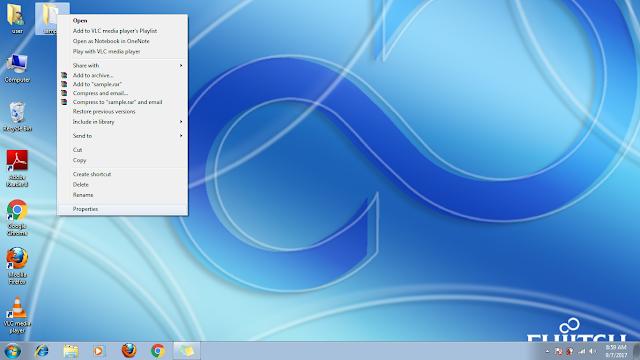 folder properties in windows 7