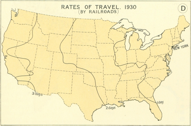 Rates to travel 1930
