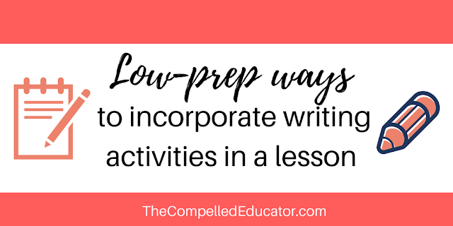 Low-prep writing activities