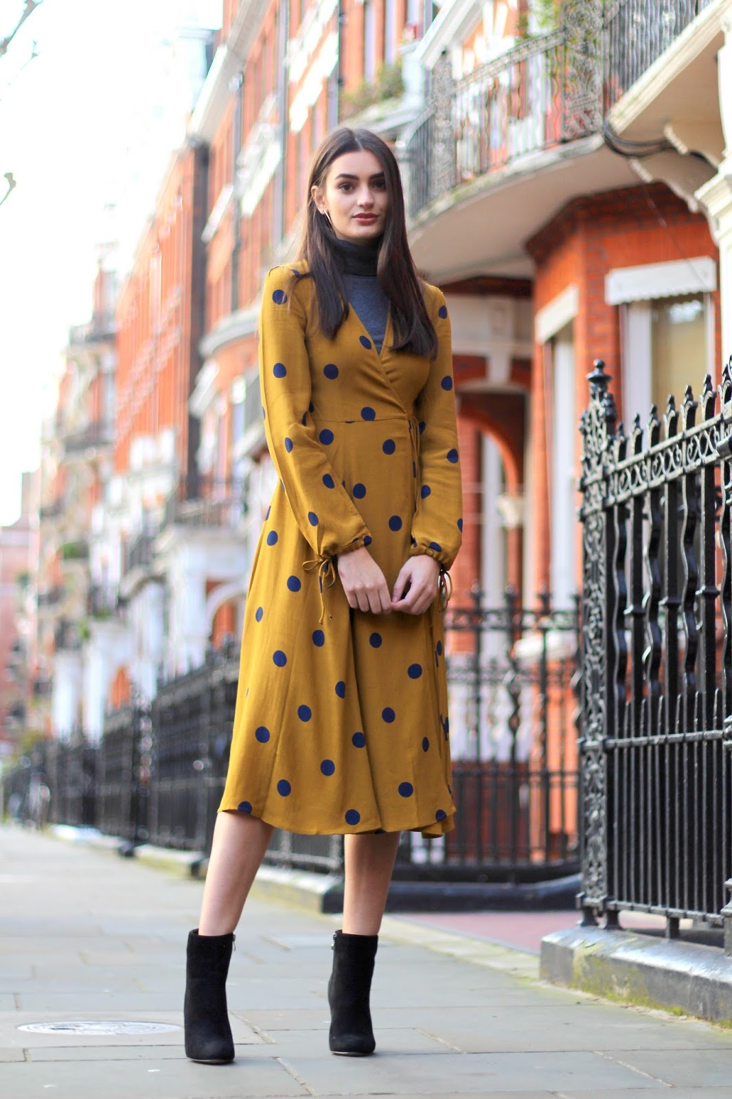 midi dress style london 70s layering peexo