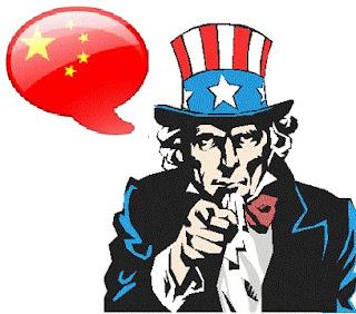 Chinese will substitute English, caricature