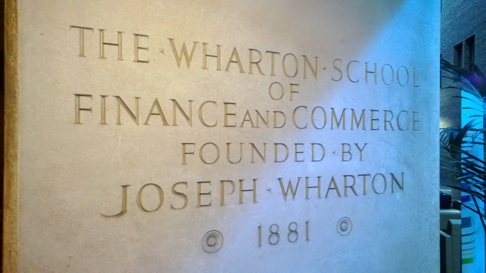 Collegium Charter School Technology Blog: Hello From Wharton!