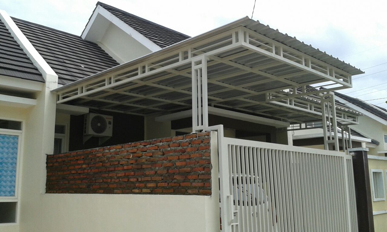 Kanopi Surabaya Sidoarjo Canopy Rangka Double