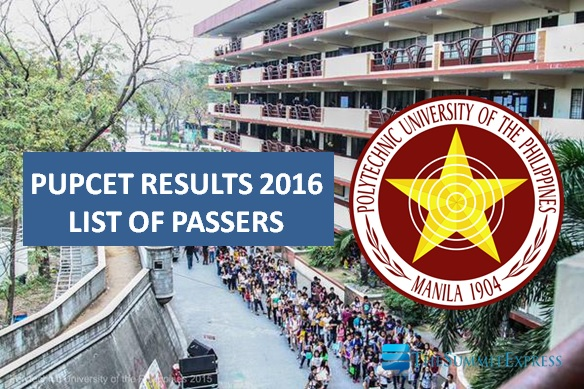 A-Z Passers: PUPCET results for AY 2016-2017 now out online