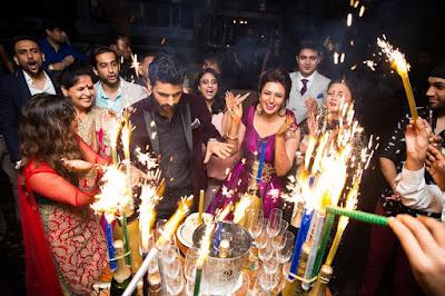 Divyanka-Tripathi-and-Vivek-Dahiya-reception-for-friends