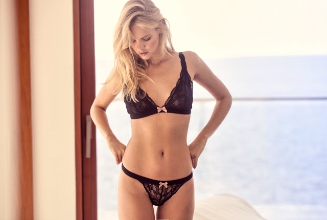 Eberjey Pre-Spring Latest Lingerie featuring Marloes Horst
