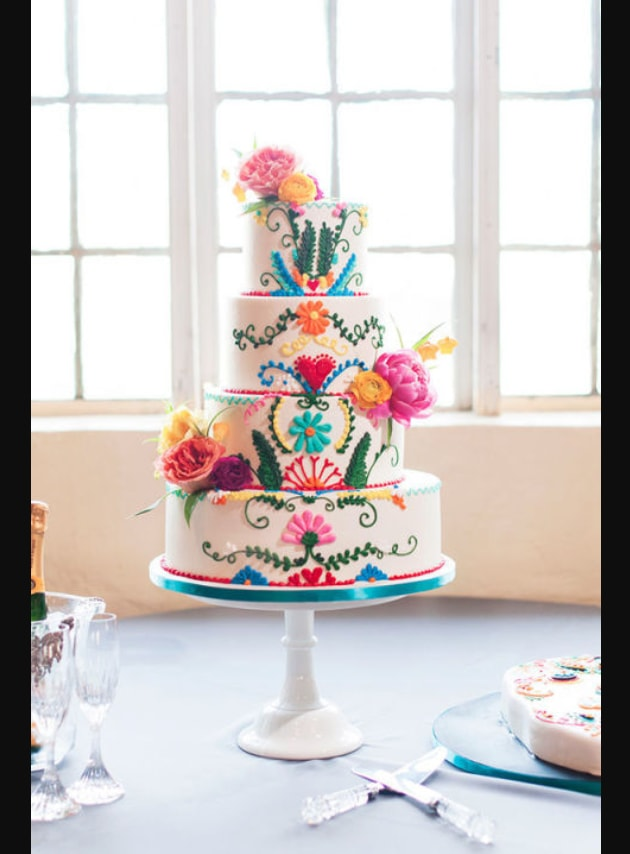 Wedding Cake Klasik dengan Hiasan Bunga Warna-warni.jpg