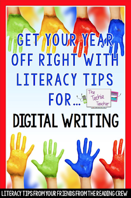 Literacy tips for Digital Writing Journals in Google Slides.