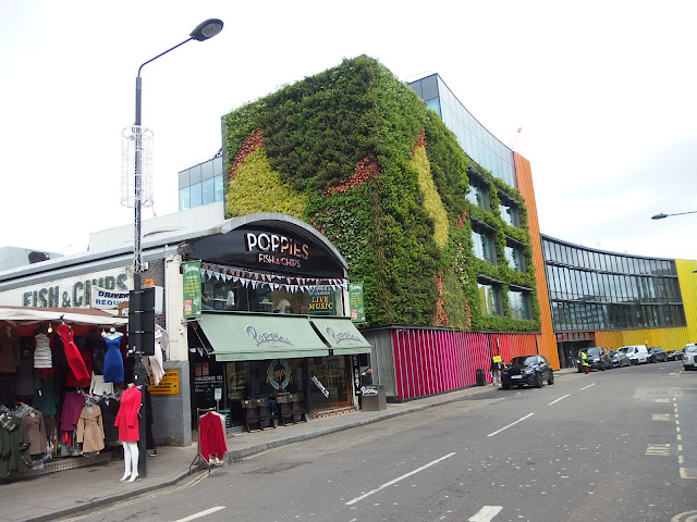 Viacom's green wall at Camden Lock