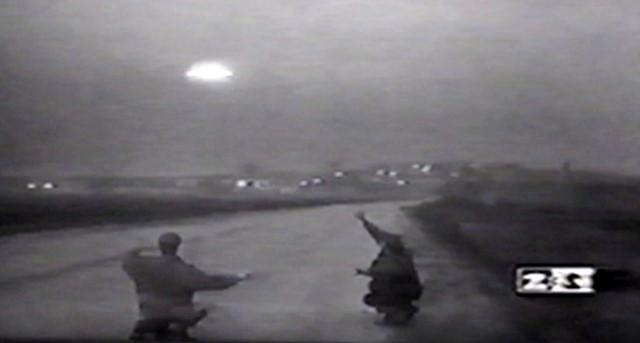 Faked Russian UFO landing.