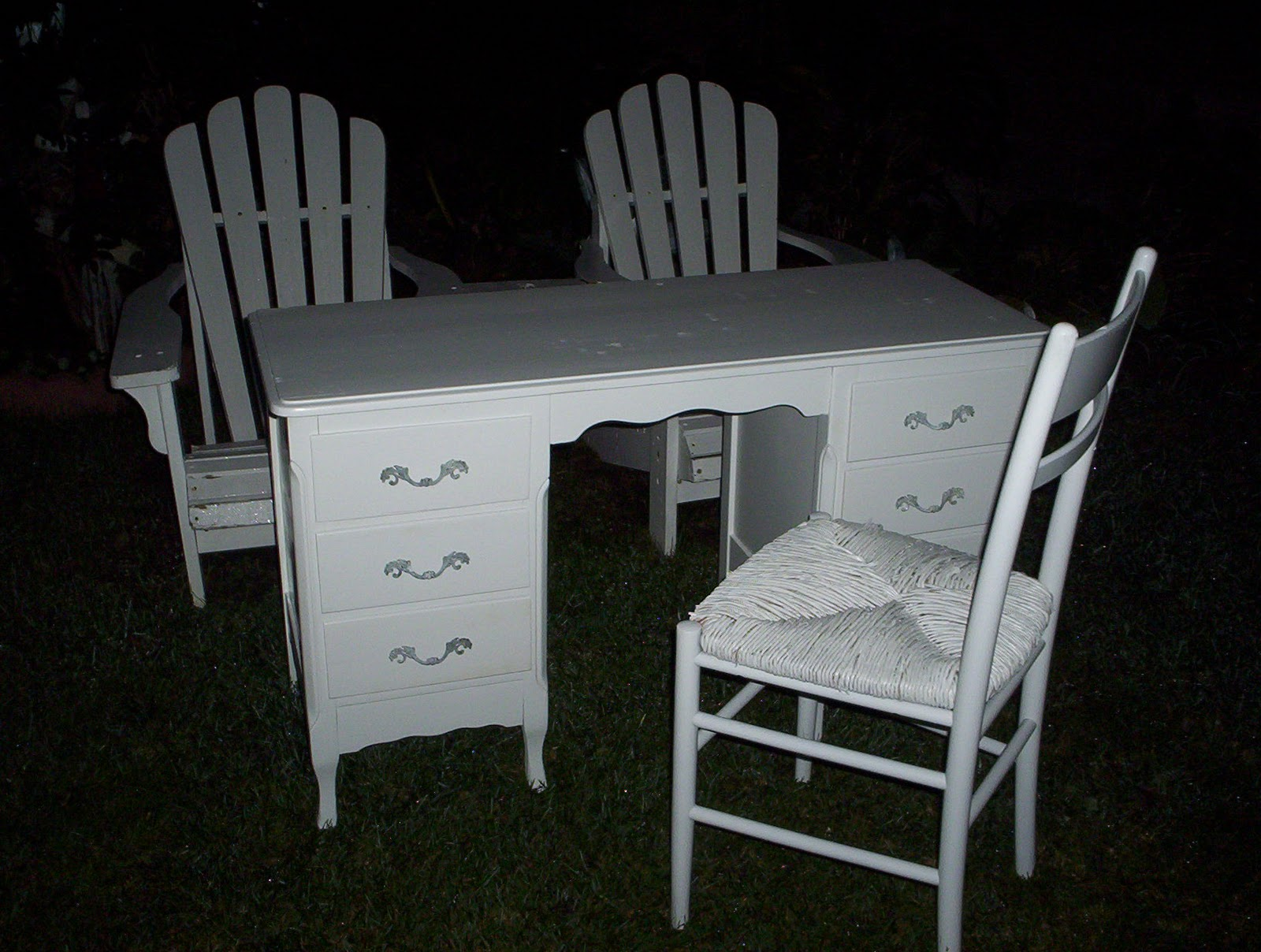 White Desk And Chair Shabby To Chic Treasures White Desk And Chair With Side