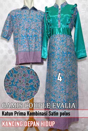 15 Model Baju Gamis Batik Pasangan Modern Terbaru 2017