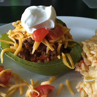 This week's installment of Recipes for Your Meal plan includes taco filled peppers and a quick cassoulet.